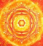 abstrakt orange målad bild Royaltyfria Bilder