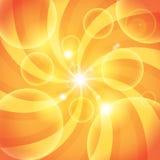 Abstrakt orange solljusbakgrund Royaltyfria Bilder