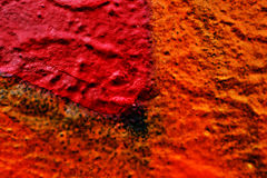 Abstrakt orange texturbakgrund på stenen Royaltyfri Foto