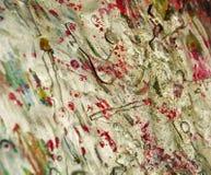 Abstrakt organisk bakgrund, vita röda gyttjatoner Arkivfoton