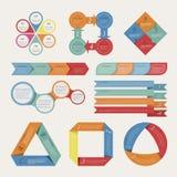 Abstrakt origamibanerbakgrund Arkivfoton