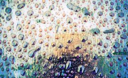 Abstrakt oskarp vattendroppyttersida på bakgrund Blöta den digitala illustrationen för textur Arkivfoton