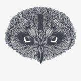 abstrakt owl också vektor för coreldrawillustration Arkivfoton