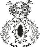 abstrakt owltatuering Arkivbilder
