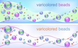 abstrakt pärlor planlägger varicolored Royaltyfri Fotografi