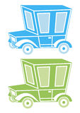 Abstrakt packe av bilar royaltyfri illustrationer