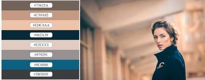 abstrakt palett för bakgrundsfärgdesign Arkivfoton