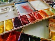 abstrakt palett för bakgrundsfärgdesign Fotografering för Bildbyråer