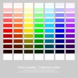 abstrakt palett för bakgrundsfärgdesign Samlingsfärg Lycka- och fredsymbol Vektorillustration, EPS10 Royaltyfria Bilder