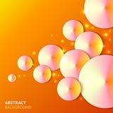Abstrakt papper bubbles bakgrund med lampor Royaltyfri Fotografi