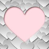Abstrakt pappers- symbol för valentinförälskelsehjärta Royaltyfri Fotografi