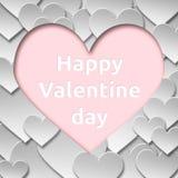 Abstrakt pappers- symbol för valentinförälskelsehjärta Arkivfoto
