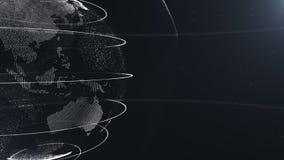 abstrakt partikel Skördfoto Vit planet inom den vita veilted, skapat av prickar Sammanlagd svart dackdrop little vektor illustrationer
