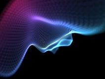 Abstrakt partikelbakgrund Vektorbakgrund eps 10 Abstrakta lodisar för suddighet Arkivbilder