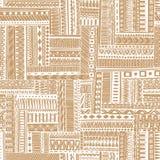 Abstrakt paskujący textured geometryczny plemienny ilustracji