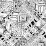 Abstrakt paskujący textured geometryczny plemienny royalty ilustracja