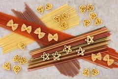 Abstrakt pastaspagettibakgrund Fotografering för Bildbyråer