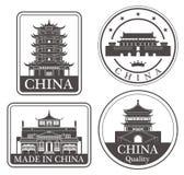 Abstrakt Peking royaltyfri illustrationer