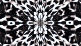 Abstrakt, piękne monochrom postacie ssać środkowy punkt animacja, kalejdoskopu ruchu tło ilustracja wektor