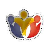 Abstrakt pictogram för folk Royaltyfria Bilder