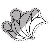 Abstrakt pictogram för folk Arkivbild