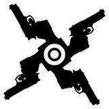abstrakt pistolls stock illustrationer