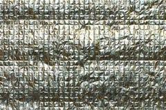 Abstrakt pläterat material för bakgrund silver Royaltyfria Bilder
