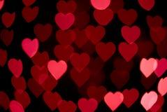 Abstrakt - plam kierowi światła - miłość znak Fotografia Royalty Free