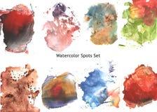 Abstrakt plaska för vattenfärg (texturuppsättningen) vektor illustrationer