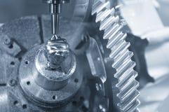 Abstrakt plats av CNC-malningmaskinen Royaltyfri Bild