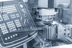Abstrakt plats av närbilden av tråden - EDM-CNC-maskin Royaltyfria Bilder