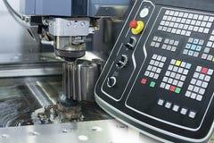 Abstrakt plats av närbilden av tråden - EDM-CNC-maskin Royaltyfria Foton