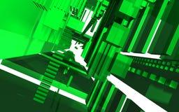 Abstrakt plats, färgrik futuristisk struktur Royaltyfria Bilder