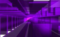 Abstrakt plats, färgrik futuristisk struktur Arkivbild