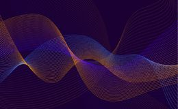 Abstrakt pluskoczący przekręcający kropkowany mieszający gradient wykłada tło ilustracja wektor