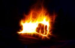 Abstrakt pożarnicza tekstura Fotografia Royalty Free