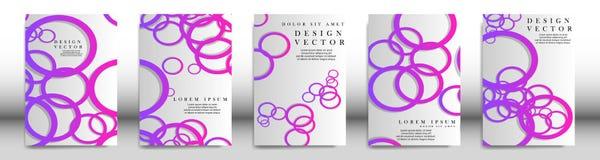 Abstrakt pokrywa z okregów elementami książkowy projekta pojęcie Futurystyczny biznesowy układ Cyfrowego plakatowy szablon ilustracji