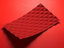 Abstrakt polygonal affärskort Arkivfoto