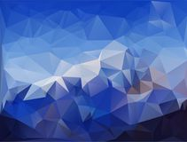 Abstrakt polygonal bakgrund Royaltyfria Foton