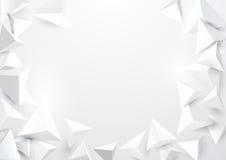 Abstrakt polygonal bakgrund för trianglar 3d Royaltyfria Bilder