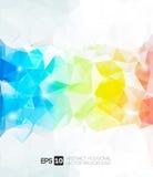 Abstrakt polygonal bakgrund för vektor Royaltyfri Fotografi