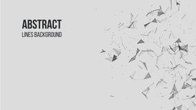 Abstrakt polygonal bakgrund med att f?rbinda pricker och fodrar Anslutningsteknologibakgrund vektor illustrationer