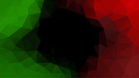 Abstrakt polygonal mosaikvektorbakgrund Gräsplan svart som är röd Arkivbilder