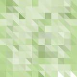 Abstrakt Polygonal mosaisk bakgrund av trianglar tänder - grön färg Oskarpt grönt raster Royaltyfri Fotografi
