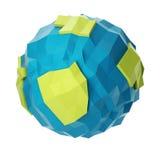 Abstrakt polygonal planet Arkivbild