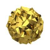 Abstrakt polygonal sfär Royaltyfri Bild