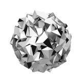 Abstrakt polygonal sfär Arkivbild