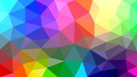 Abstrakt Polygonal textur med regnbågefärger royaltyfri illustrationer