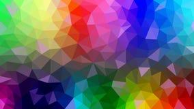 Abstrakt Polygonal textur med regnbågefärger vektor illustrationer