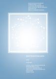 Abstrakt polygonal utrymme med linjer i litet Royaltyfri Fotografi